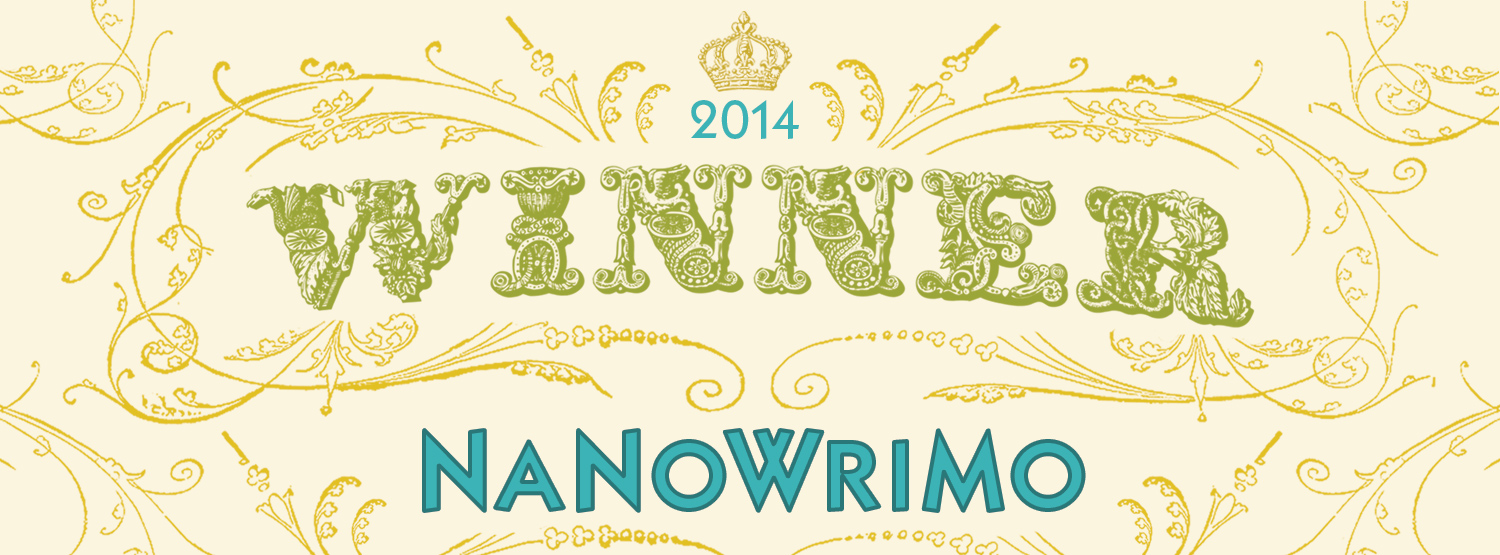 A banner proclaiming a winner for NaNoWriMo2014